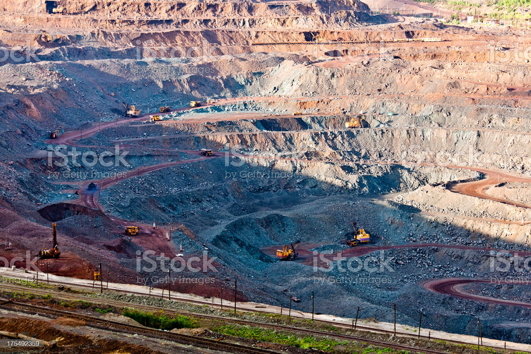 Huge quarry royalty-free stock photo
