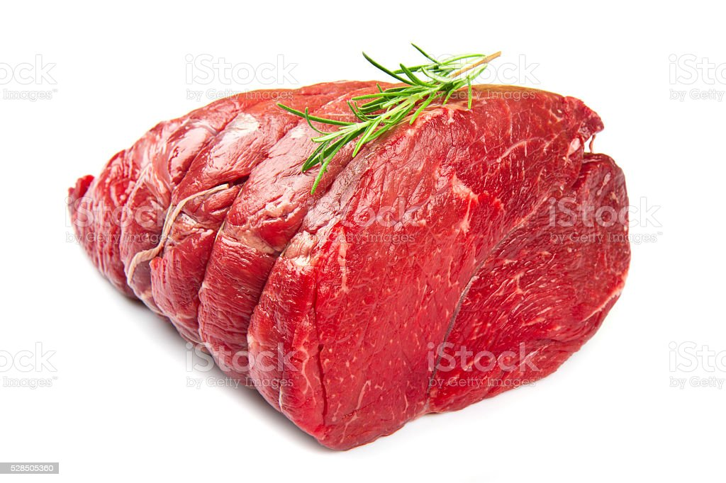 huge red meat chunk stock photo