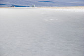 huge salt area at Badwater in Death Valley, California