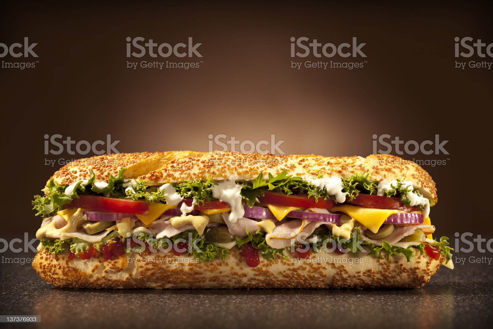 huge sandwich royalty-free stock photo