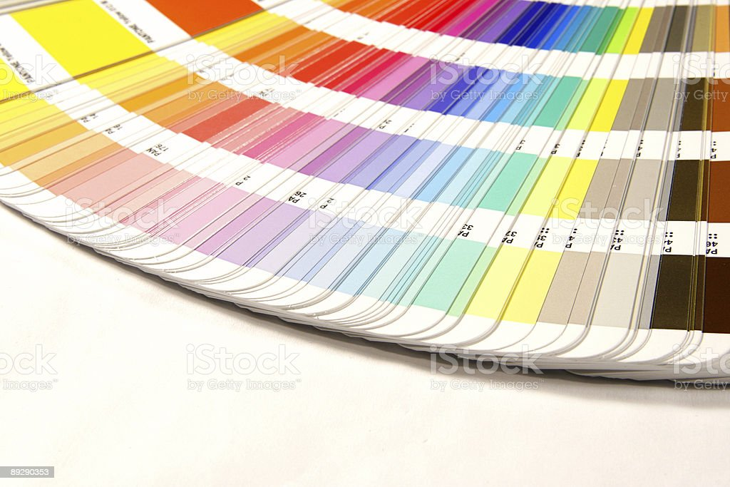 A huge selection of color swatch guides  stock photo