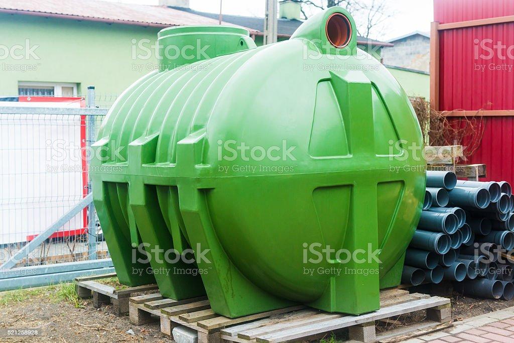 huge septic tank stock photo