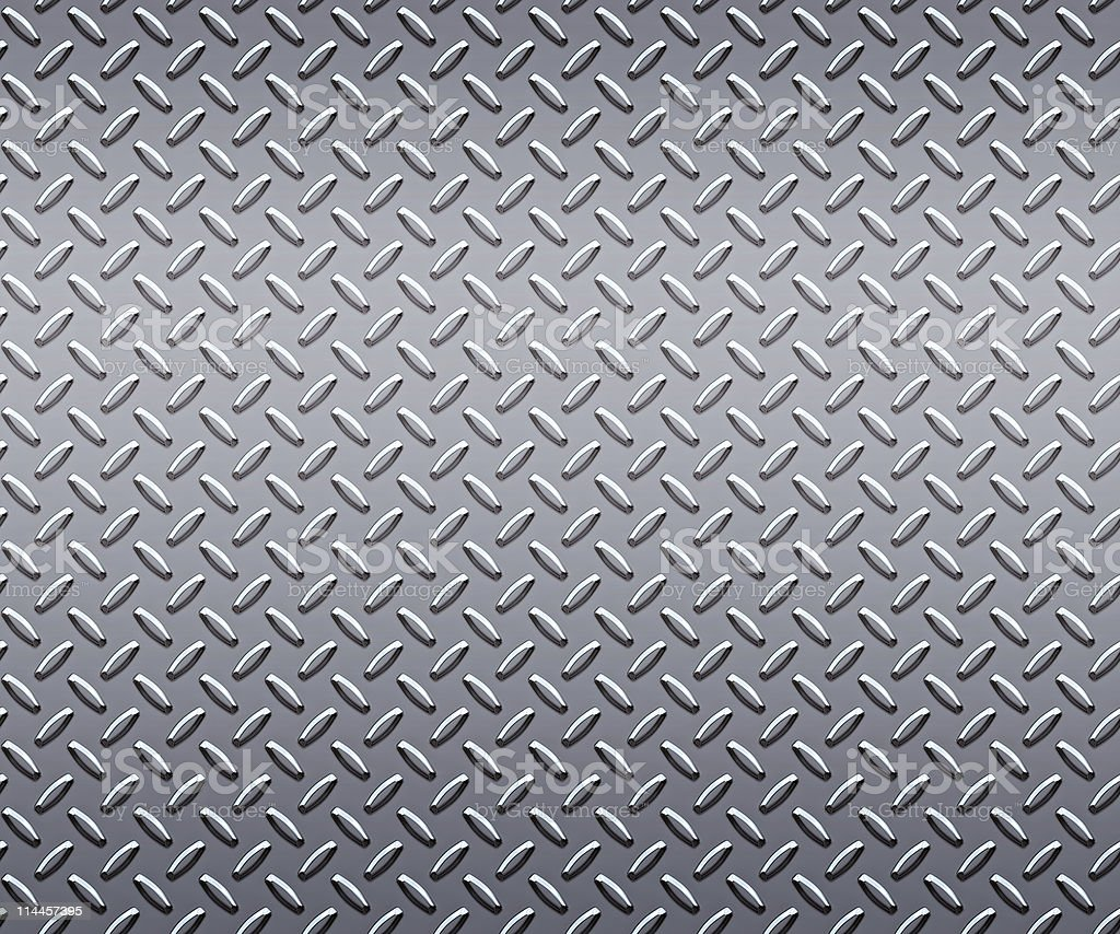 huge sheet of strong steel diamond or tread plate stock photo
