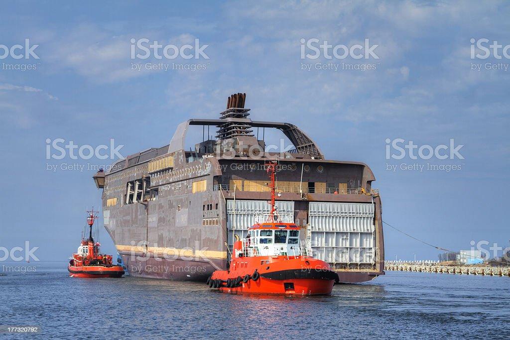 Huge ship royalty-free stock photo