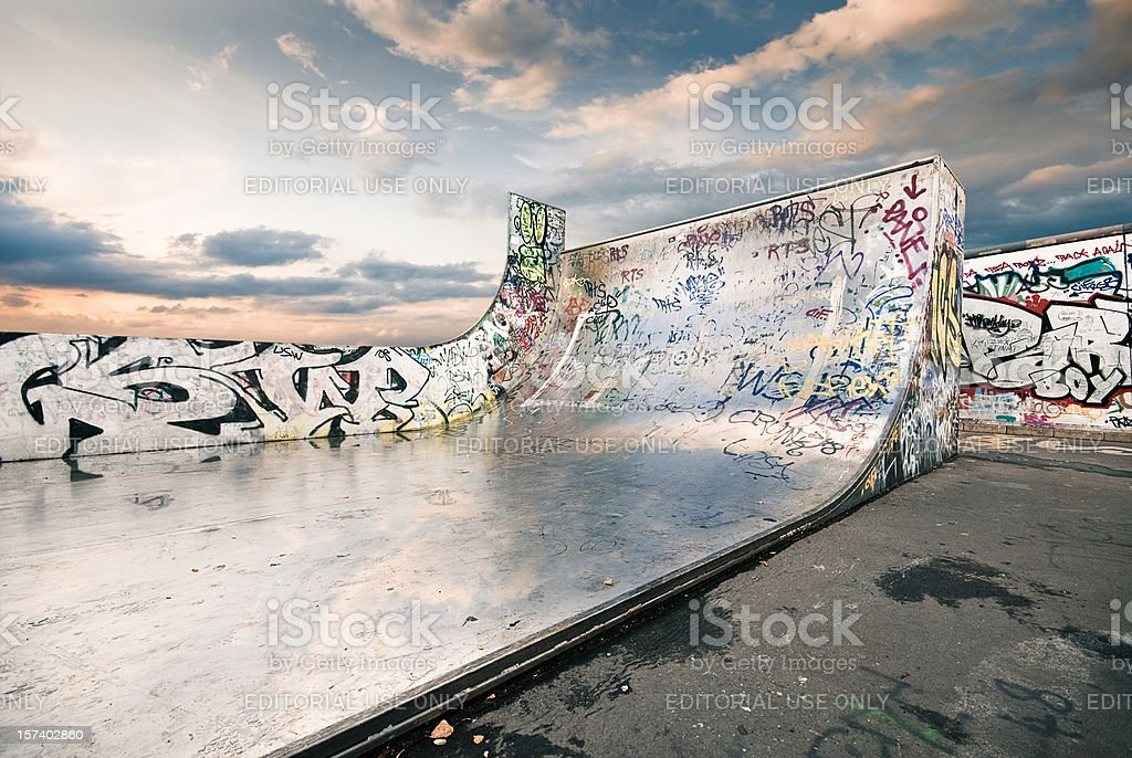 Huge skateboard ramp royalty-free stock photo