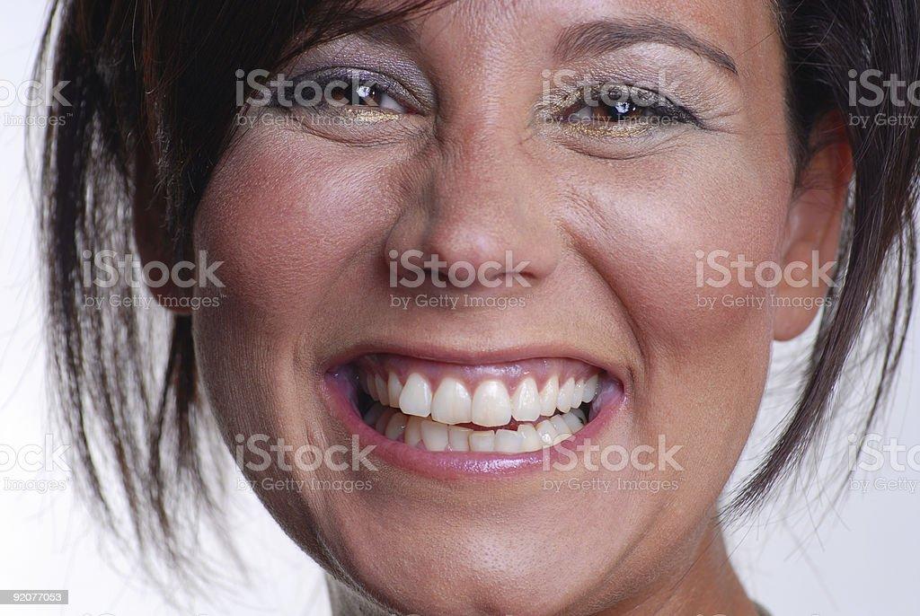Huge Smile stock photo