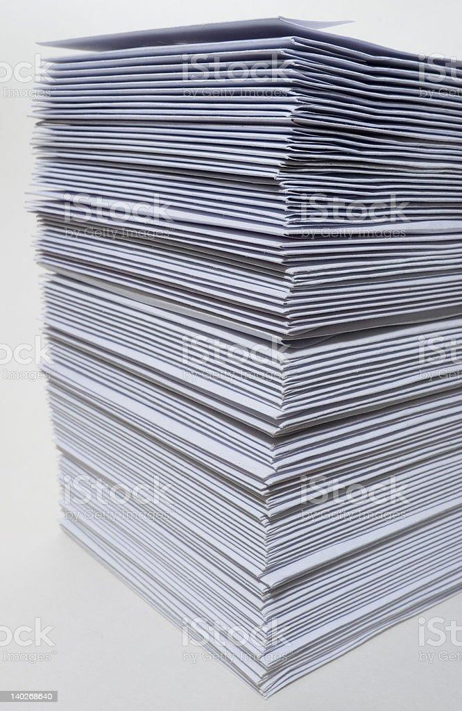 Huge stack of envelopes stock photo