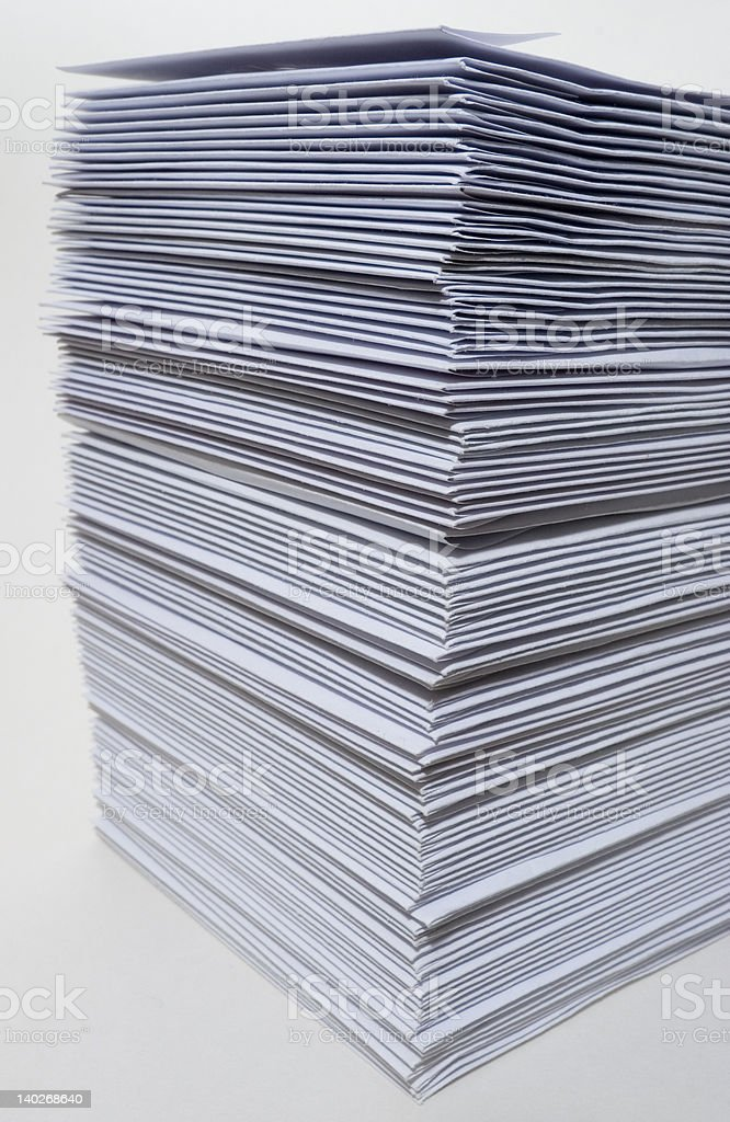 Huge stack of envelopes stock photo