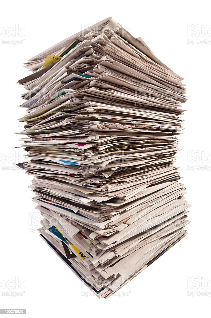 Huge Stack of Newspapers royalty-free stock photo