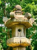 Huge stone lantern, Tokyo, Japan