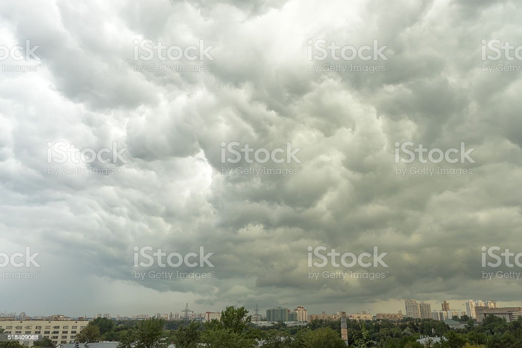 Huge storm cloudscape background stock photo