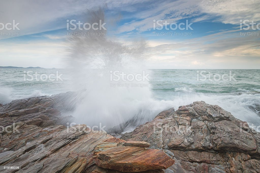 Huge Storm Surf ant Granite Mountain stock photo