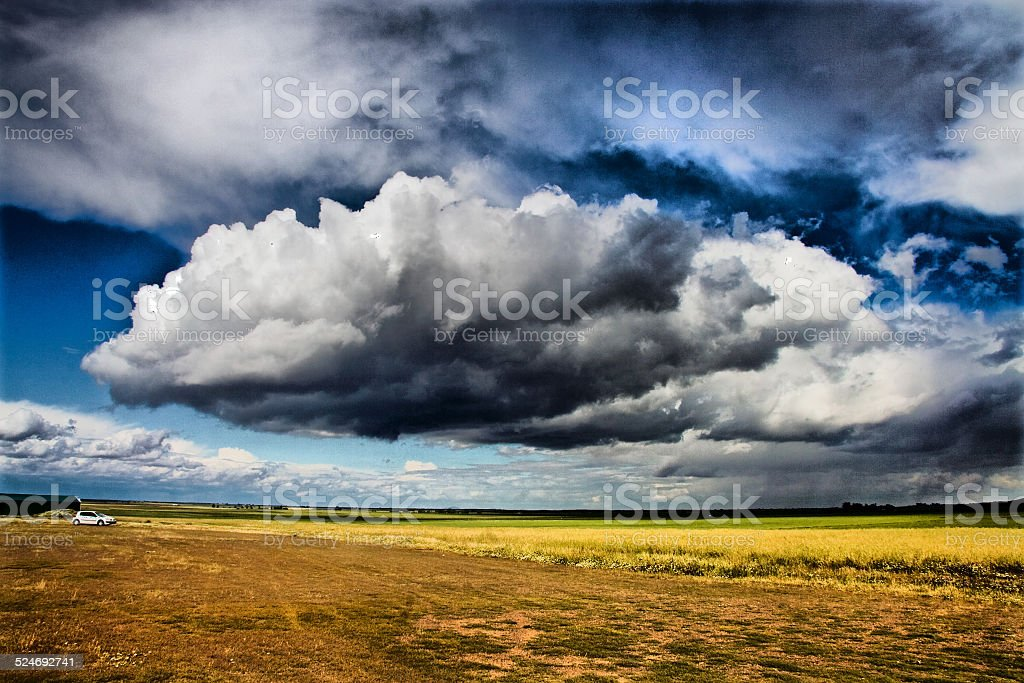 Huge stormy clouds stock photo
