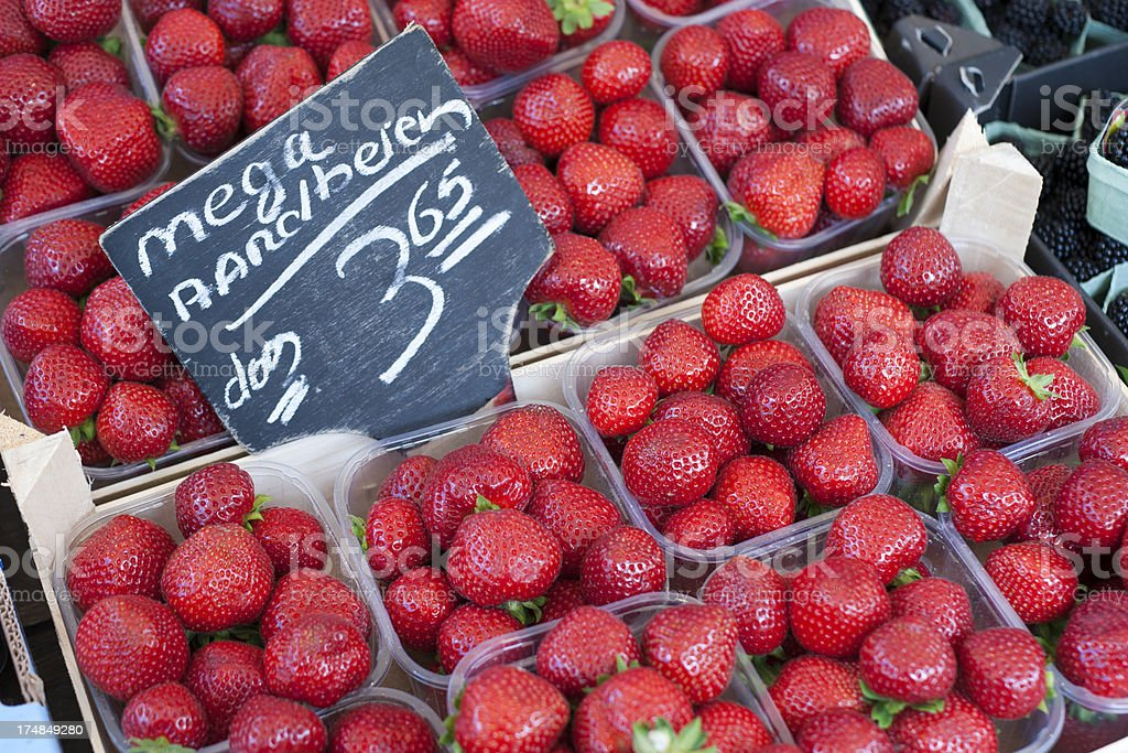 Huge strawberries royalty-free stock photo