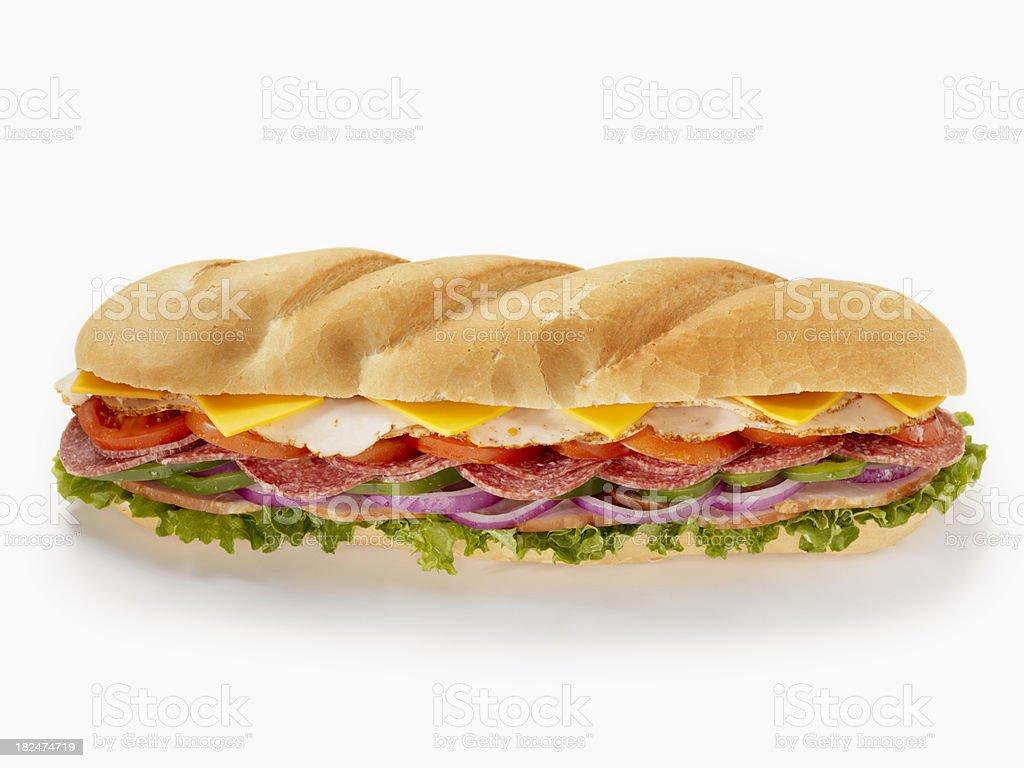 Huge Submarine Sandwich royalty-free stock photo