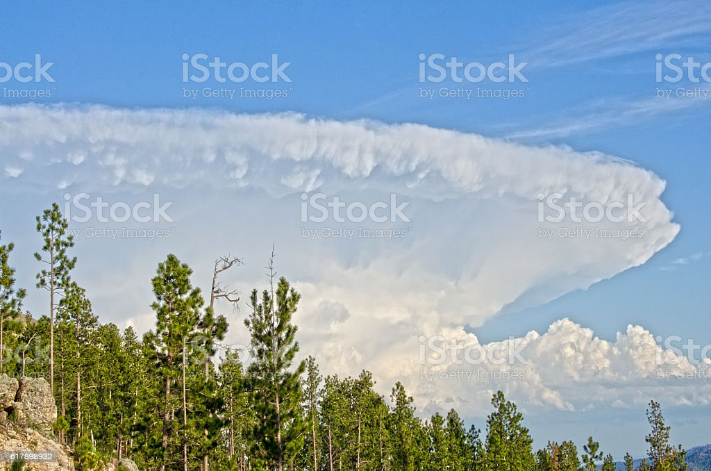 Huge Super Cell Cloud stock photo