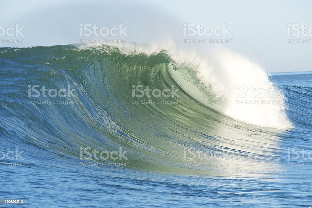 Huge surf crashing at Half Moon Bay California royalty-free stock photo