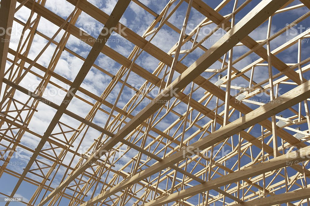 Huge Timber Work stock photo