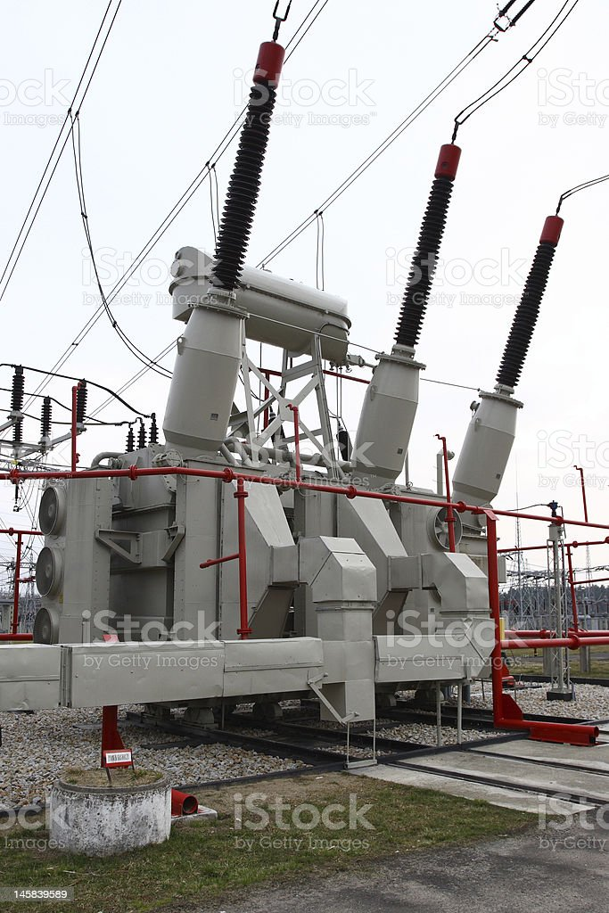 Huge Transformer royalty-free stock photo
