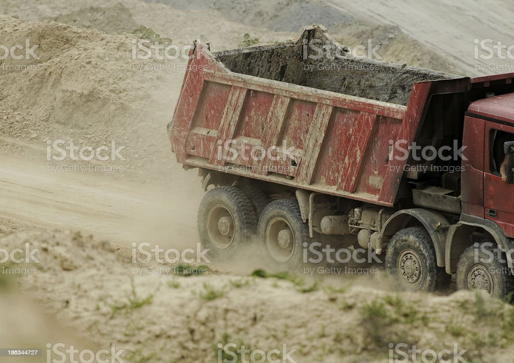 huge truck royalty-free stock photo