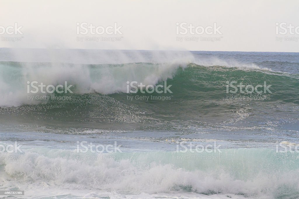 Huge Wave Break During Storm royalty-free stock photo