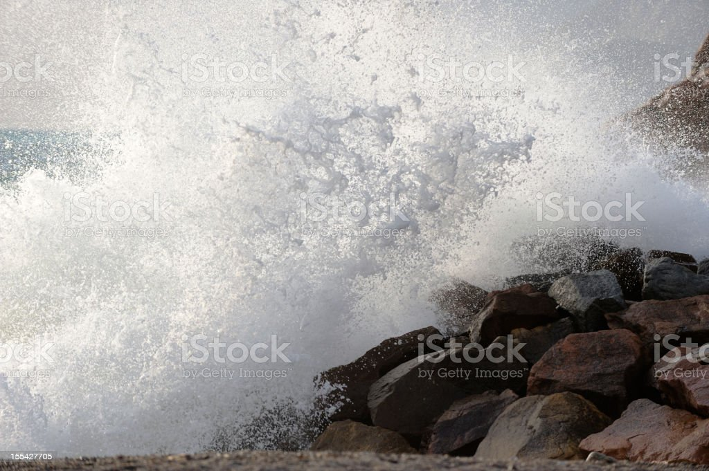 Huge Wave Splash stock photo
