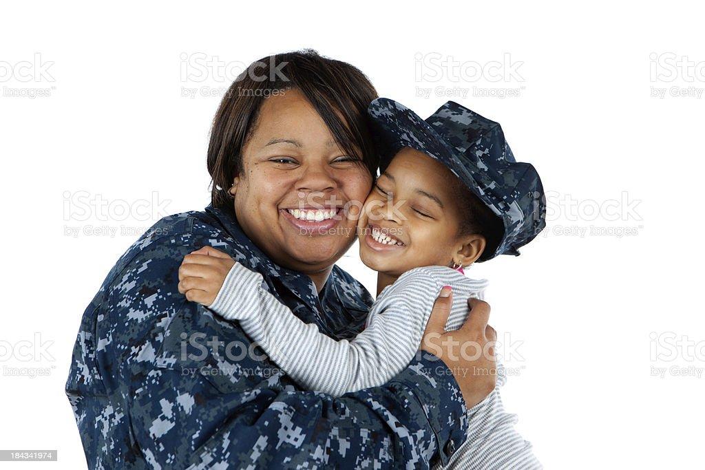 Hugging Mom royalty-free stock photo