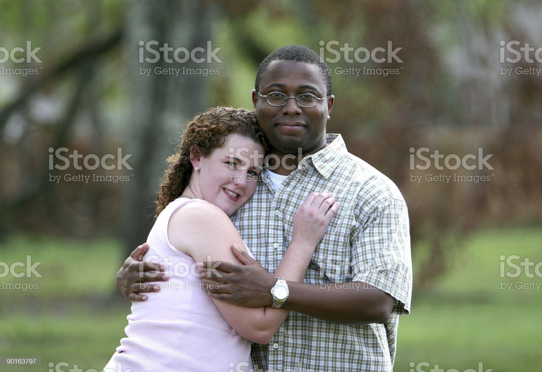Hugging. royalty-free stock photo