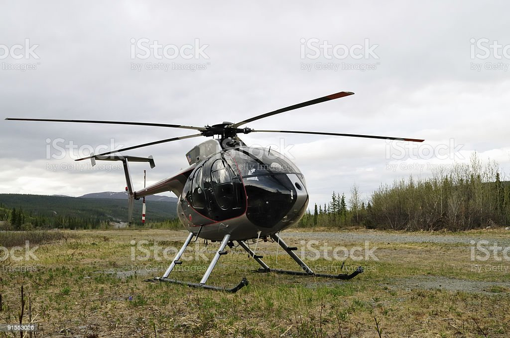 Hughes Helicopter stock photo