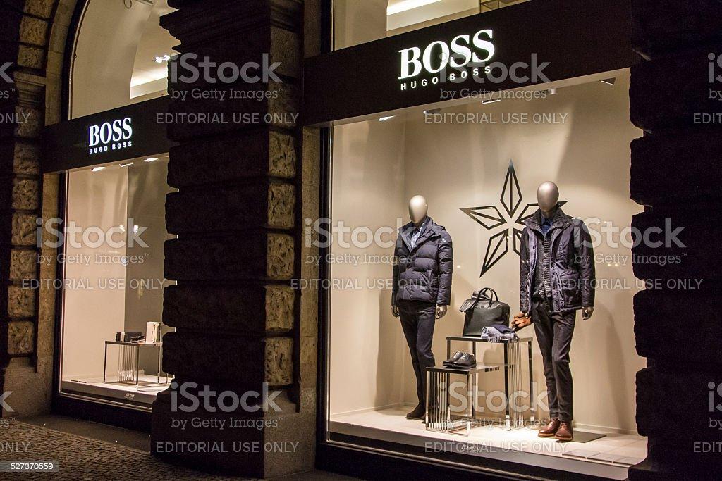 Hugo Boss Store stock photo
