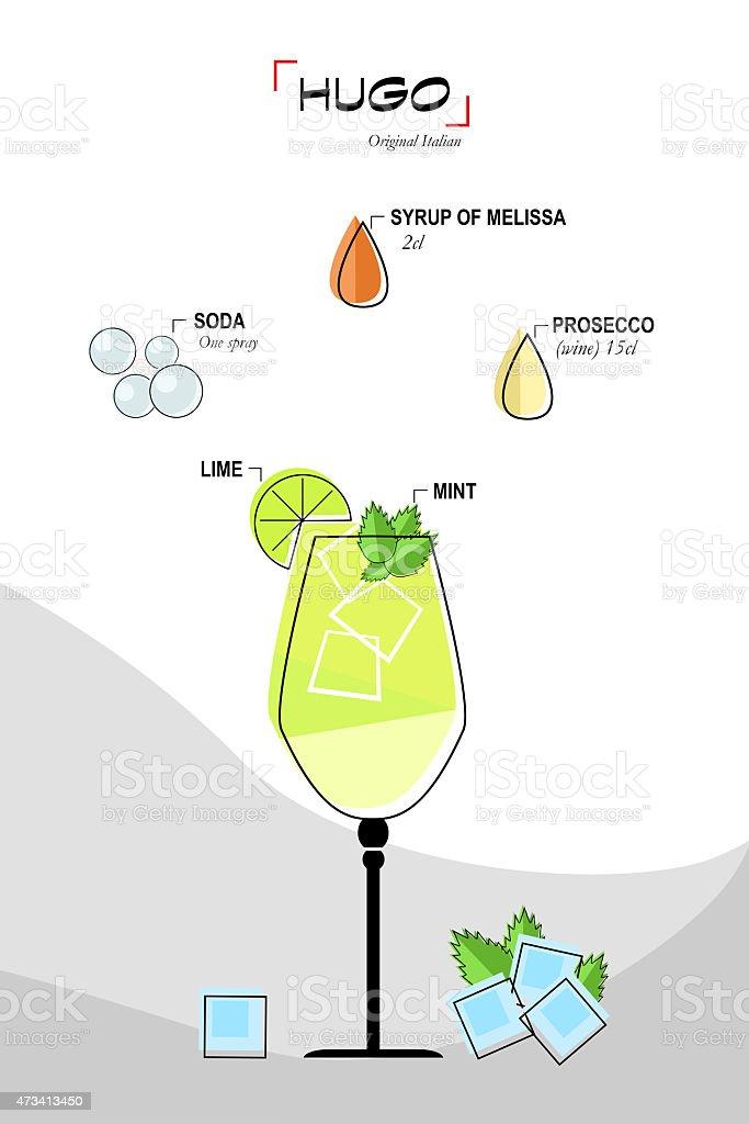 Hugo cocktail stock photo