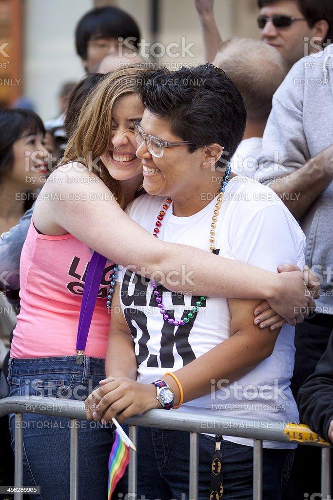 Hugs and Pride stock photo