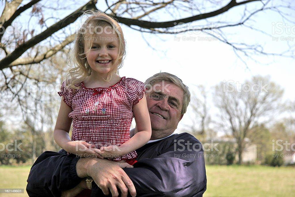 Hugs from grandpa. royalty-free stock photo