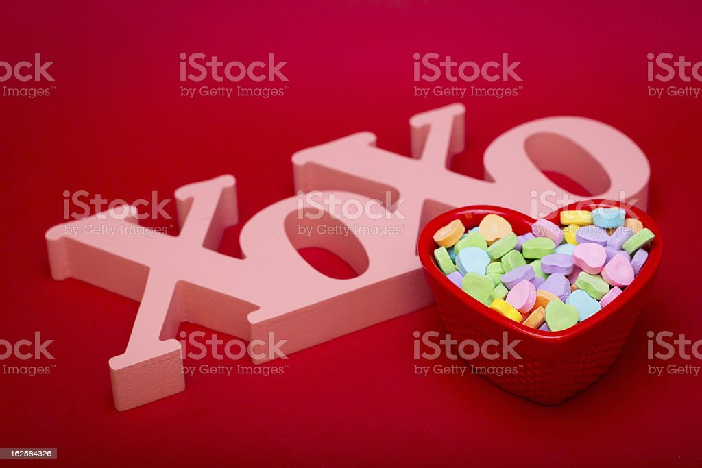 Hugs Kises and Candy Above royalty-free stock photo