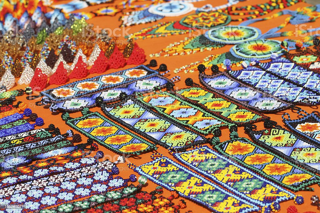 Huichol handicraft stock photo
