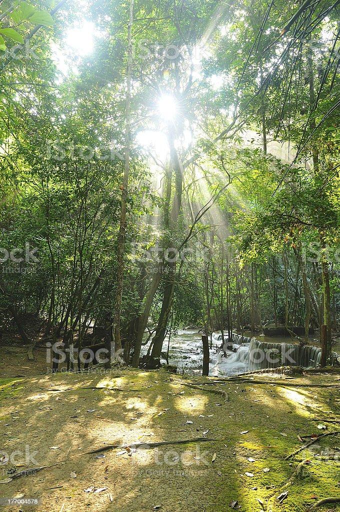 Hui-Mea-Khamin Waterfall royalty-free stock photo