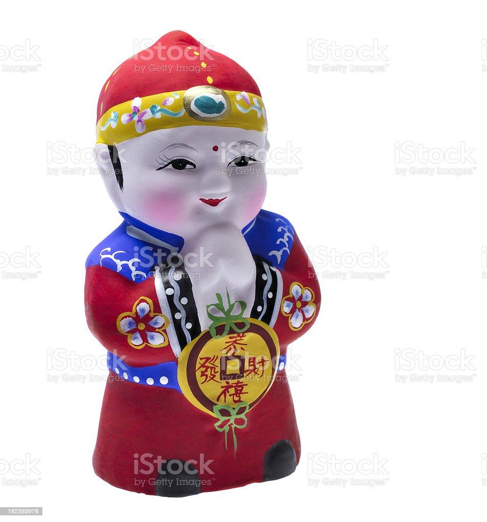 Huishan clay figurine stock photo