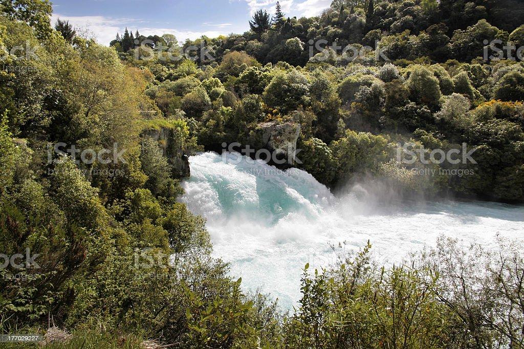 Huka Falls near Taupo stock photo