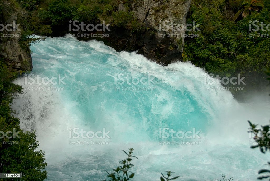 Huka Falls, New Zealand royalty-free stock photo