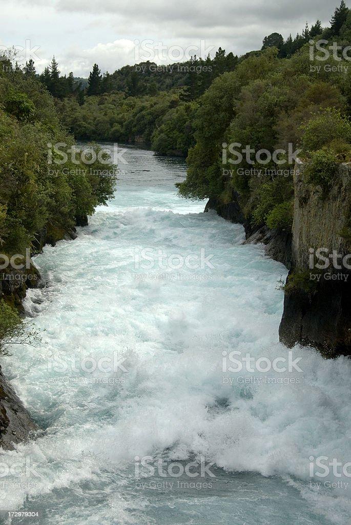 Huka Falls, New Zealand royalty-free stock photo