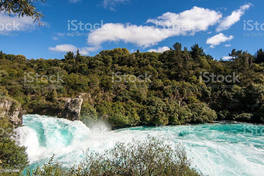 Huka Falls New Zealand stock photo