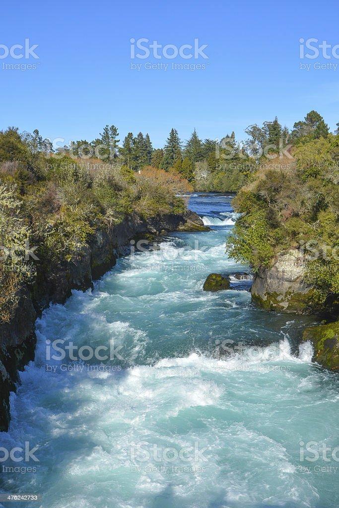 Huka Falls (waterfall) , New Zealand stock photo