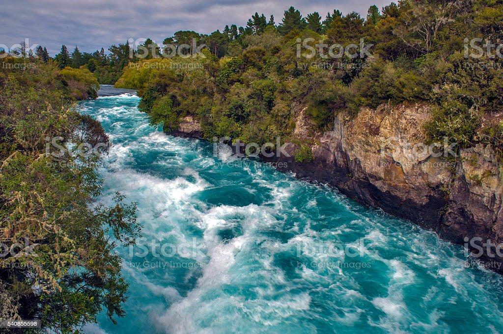 Huka Falls, New Zealand stock photo