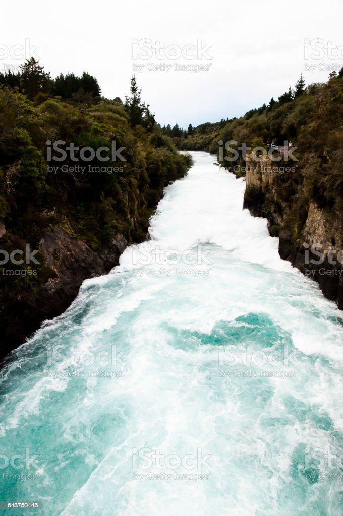 Huka Falls - New Zealand stock photo