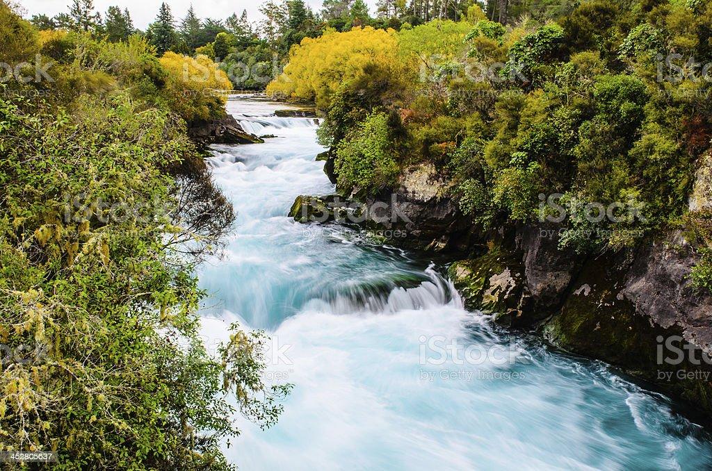 Huka falls, New Zealand, Waikato stock photo