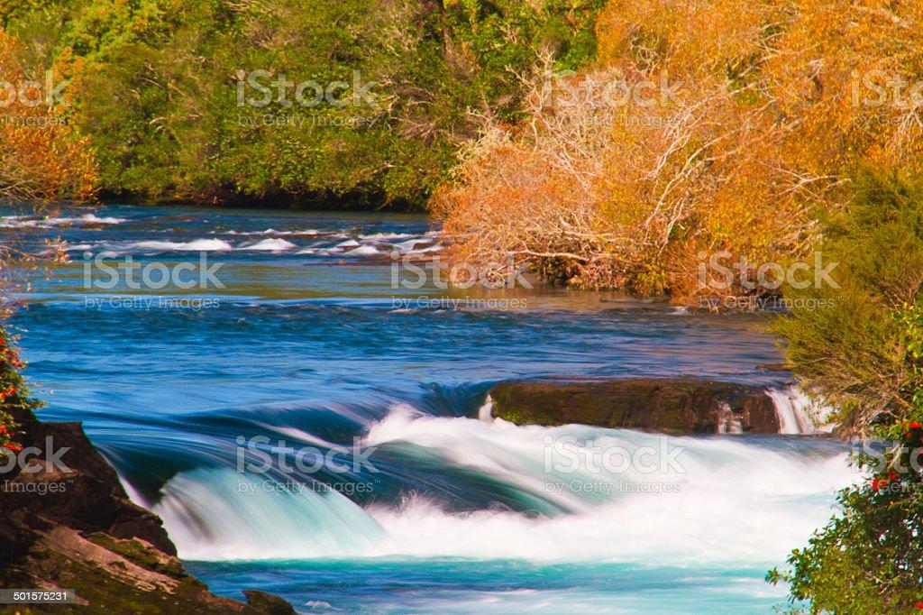 Huka Falls on Waikato River, New Zealand stock photo