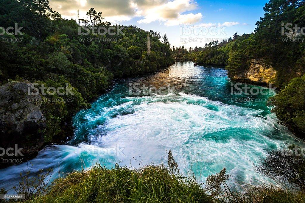Huka Falls stock photo