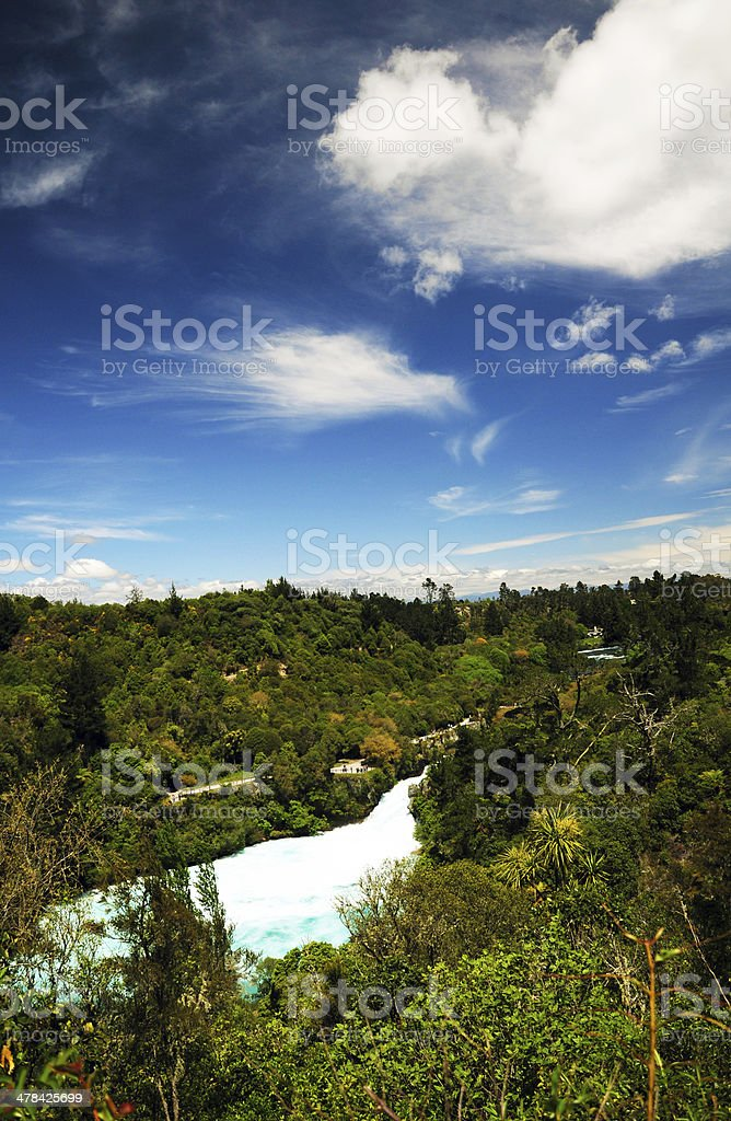 Huka Falls, Taupo, New Zealand stock photo