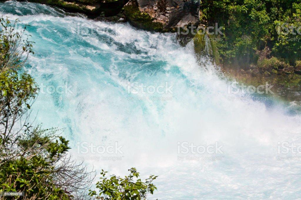 Huka Falls Taupo New Zealand stock photo