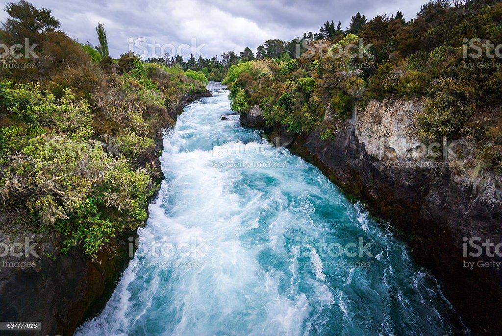 Huka Falls, Taupo stock photo